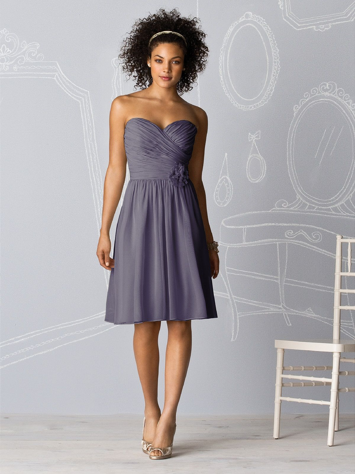 After bridesmaid dress style in stormy colors dresses