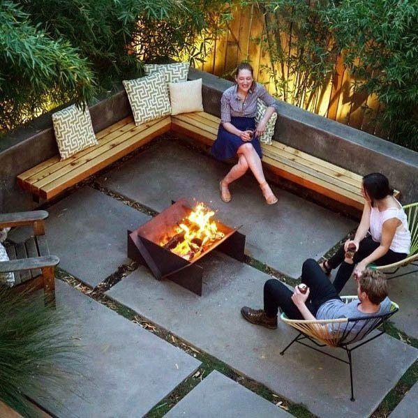 Top 50 der besten Patio-Feuerstelle-Ideen - leuchtende Außenraum-Designs  #besten #designs #enraum #feuerstelle #ideen #leuchtende #patio #gartendiy #backyardpatiodesigns