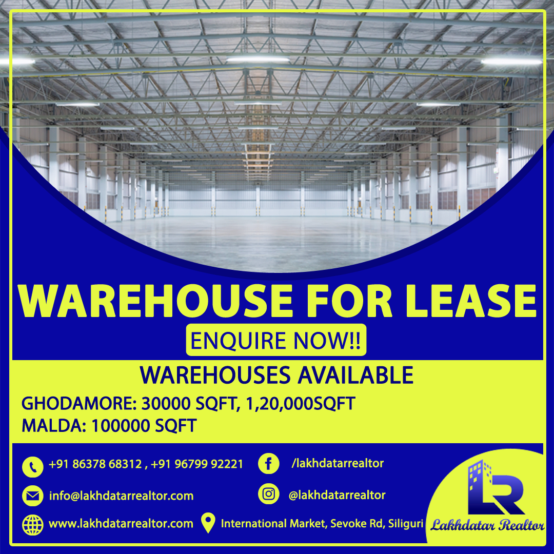 Commercial Warehouse For Rent In North Bengal Commercial Property Commercial Space For Rent Real Estate Services