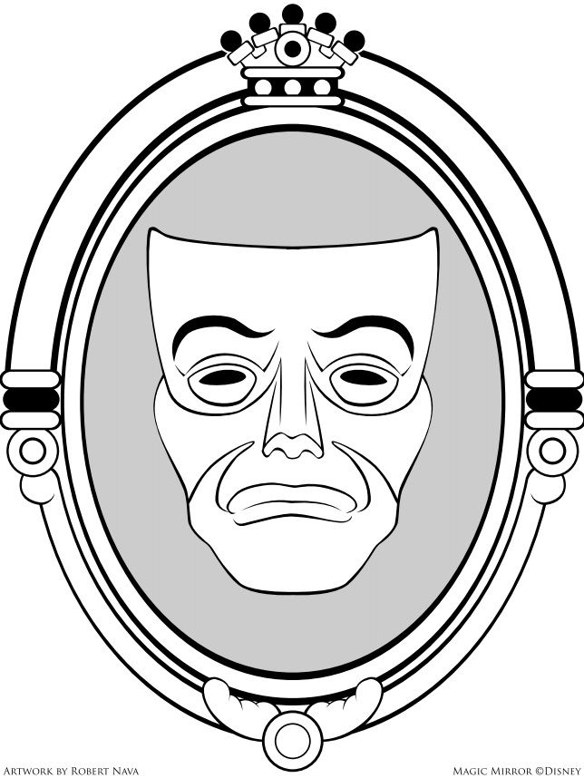 magic mirror coloring page
