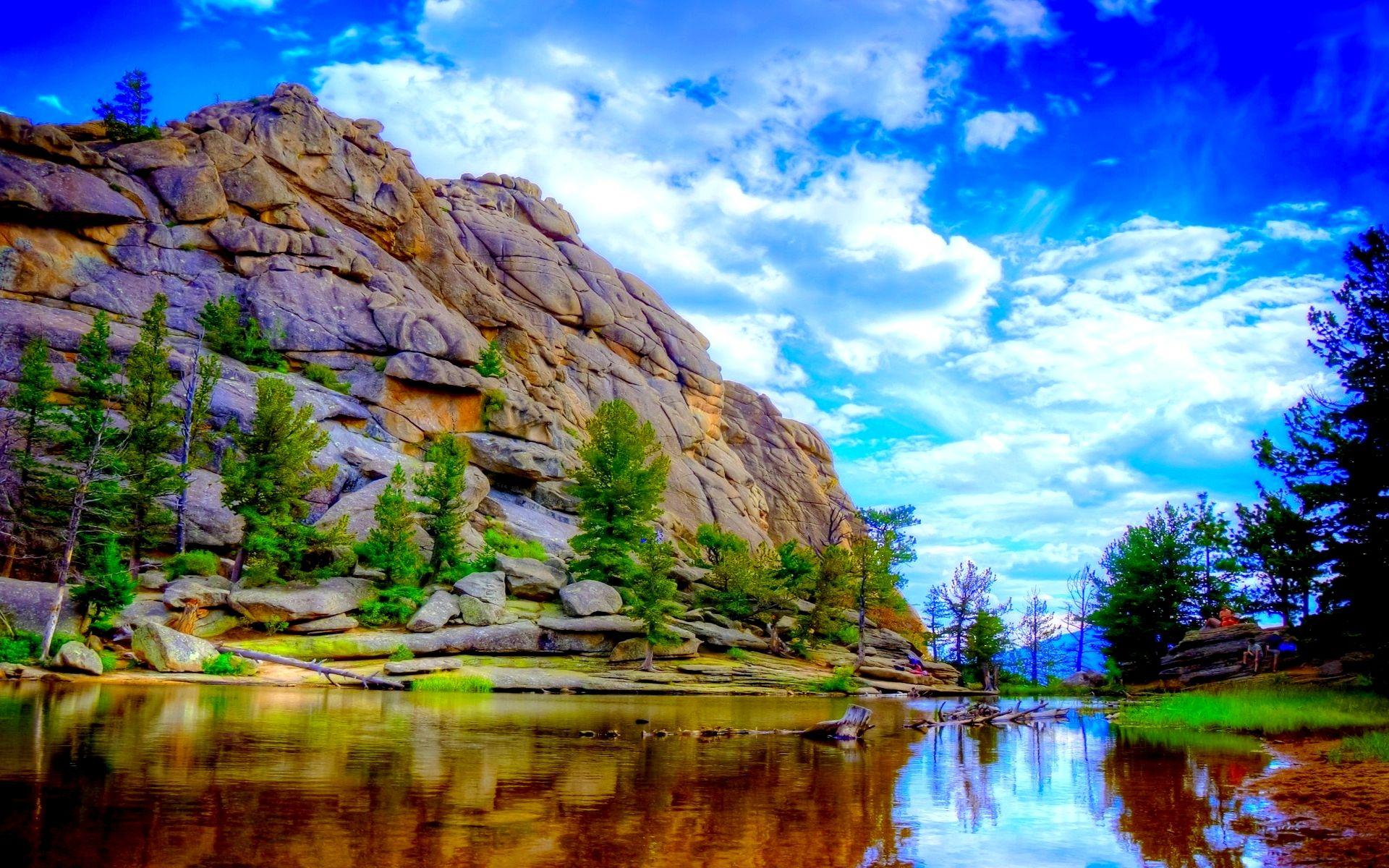 Rocky Mountain River Beautiful Mountains Scenery Rocky Mountain National Park