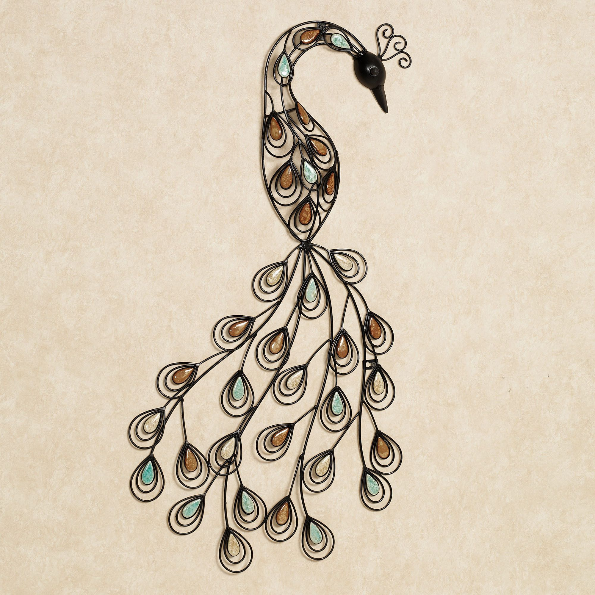 Photo 1 of 2 the resting peacock metal wall art presents one of natures most dazzling creatures in a stylish abstract form handcrafted wrought iron