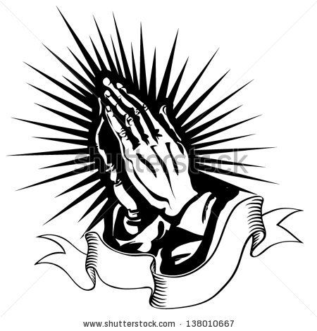 Vector Illustration Of Praying Hands