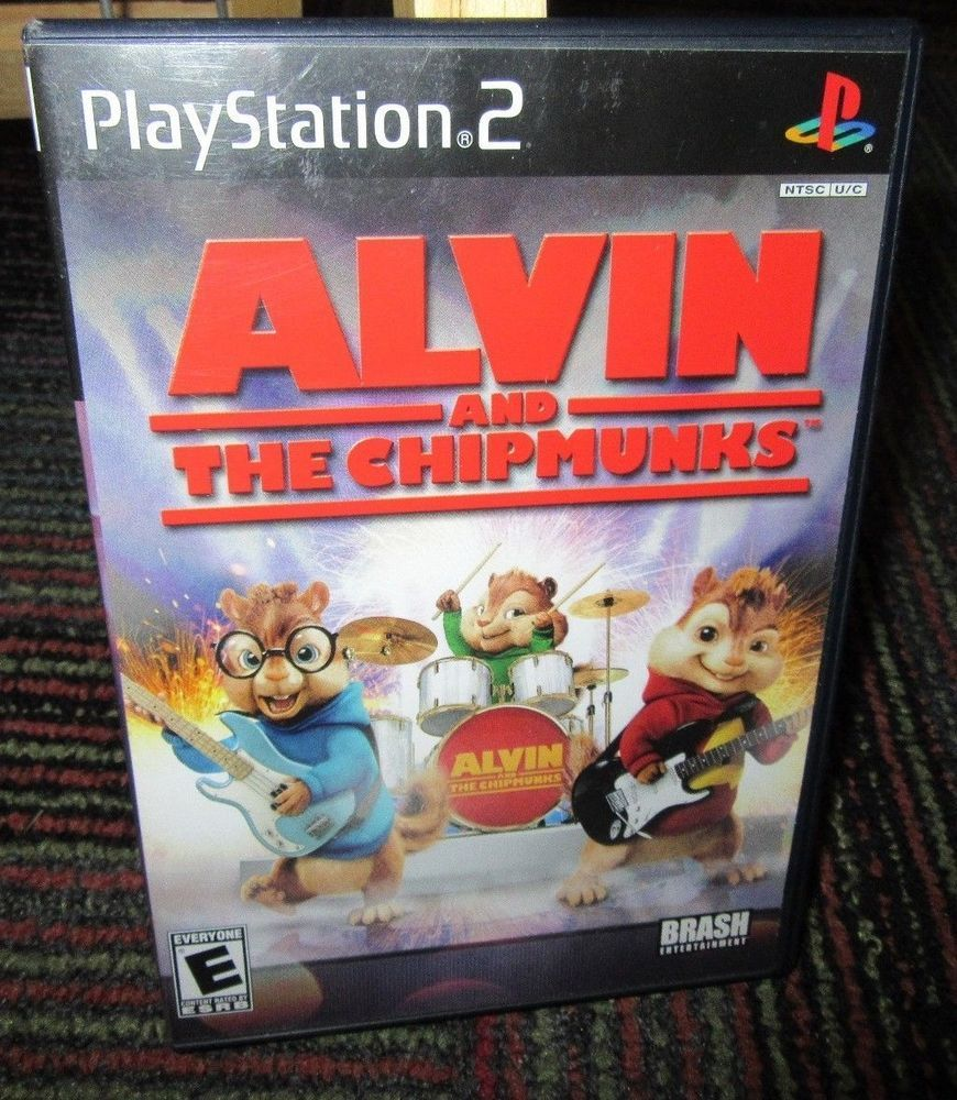 Alvin The Chipmunks Game For Playstation 2 Ps2 Case Game Manual Guc Alvin And The Chipmunks Chipmunks Alvin