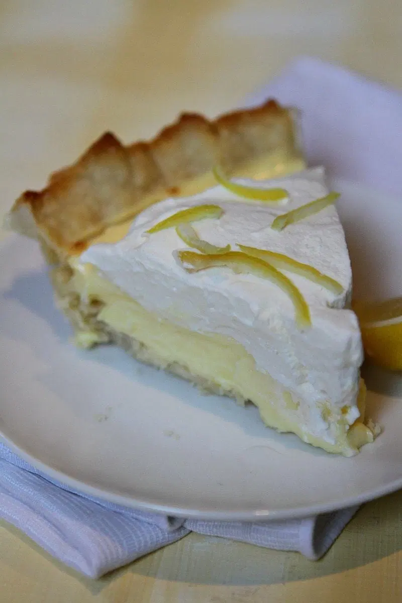 Lemon Sour Cream Pie Recipe In 2020 Cream Pie Recipes Lemon Sour Cream Pie Chilled Desserts