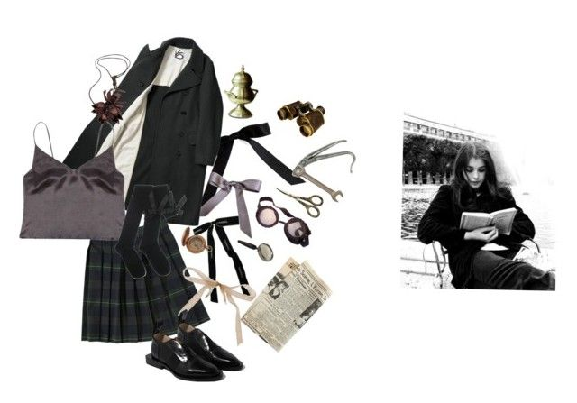 """""""Violet Baudelaire"""" by maluboul ❤ liked on Polyvore featuring Chanel, Bocage, French Toast, Can Pep Rey, Warehouse, Paco Rabanne and Burberry"""