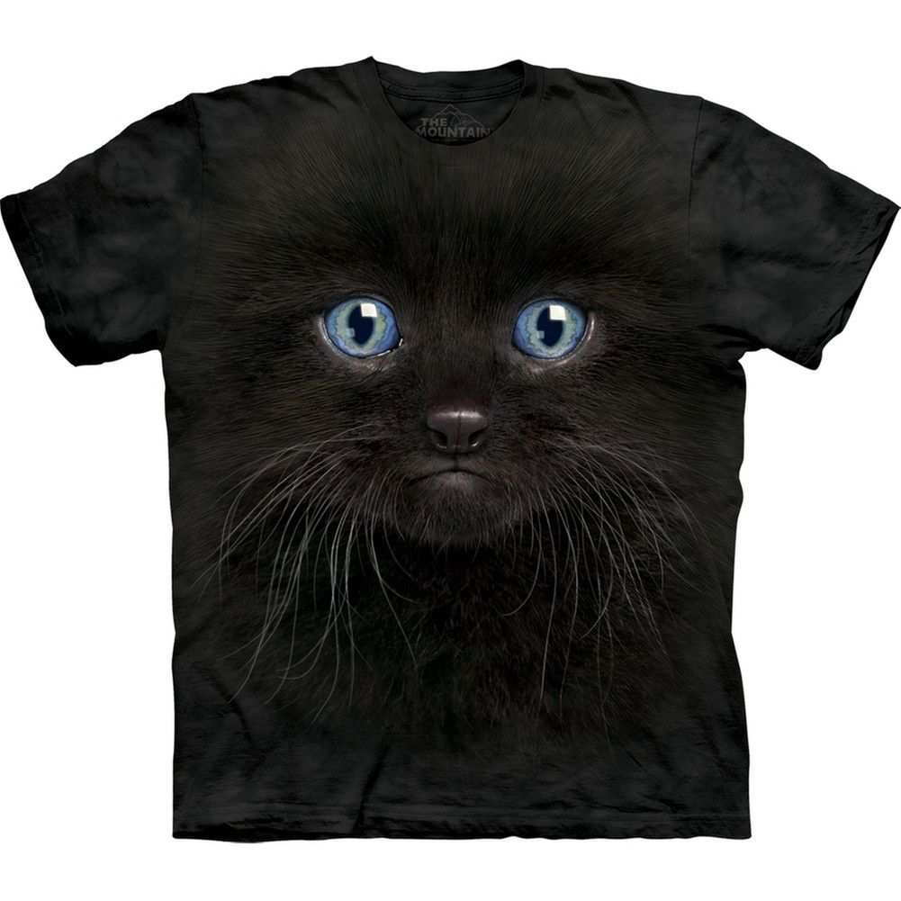 Black Kitten Face T Shirt Black Kitten Animal Tshirt Kittens Shirt