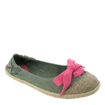 Canvas slip-ons from Rocketdog , cute pink bow!