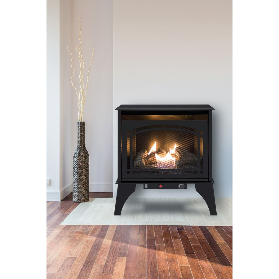 Pleasant Hearth 700 Sq Ft Dual Burner Vent Free Liquid Propane Or Natural Gas Stove Lowes Com Direct Vent Gas Fireplace Vent Free Gas Fireplace Natural Gas Space Heaters