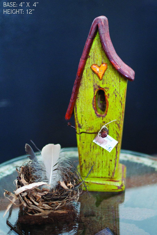 Green Decorative Birdhouse. $45.00, via Etsy