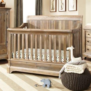Bertini Pembrooke 4-in-1 Convertible Crib, Natural Rustic   Baby ...