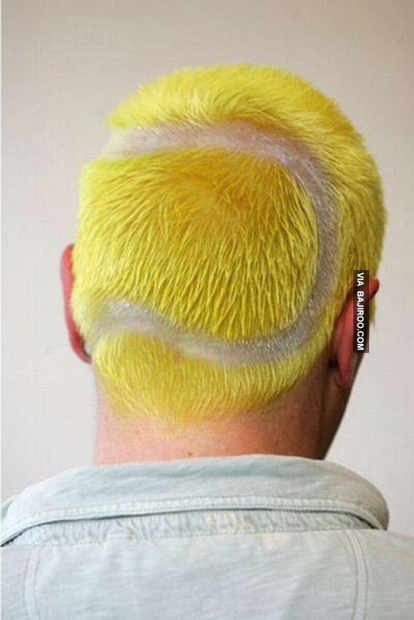 Tennis Ball Hair Style Guy Ball Hairstyles Hair Humor Tennis