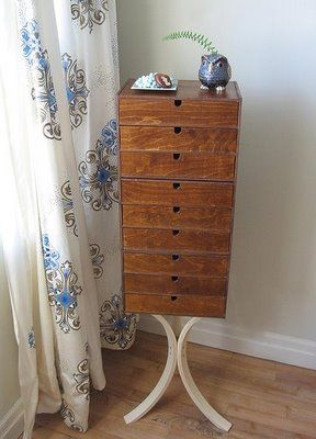 Hi Low Ikea Hack Of The George Nelson Jewelry Cabinet For The