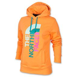 Women's The North Face Trivert Logo Pullover Hoodie | FinishLine.com | Vitamin C Orange