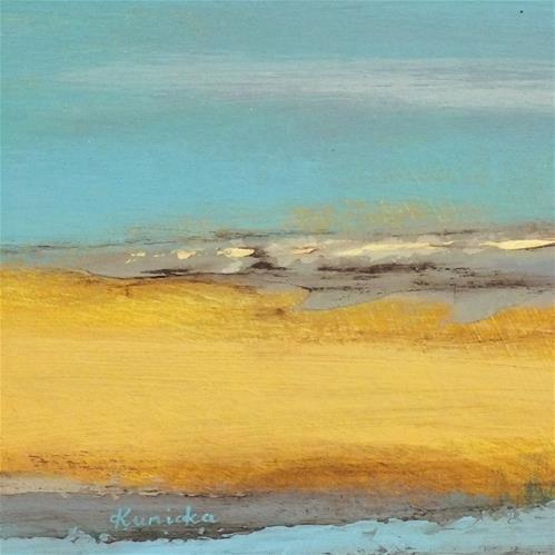 "Daily Paintworks - ""Landscape 187"" - Original Fine Art for Sale - © Ewa Kunicka Media: acrylic on cardboard Size: 15x15 cm"