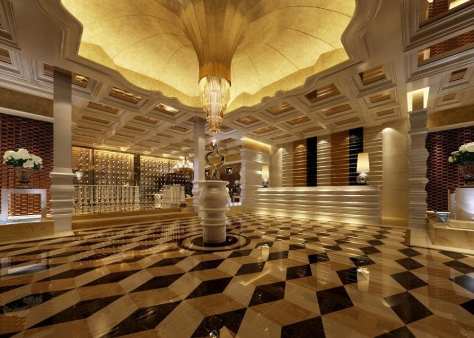 Attraktive Dekoration Dekor Hotel Foyer