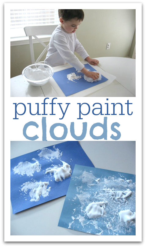 Puffy Paint Clouds - No Time For Flash Cards