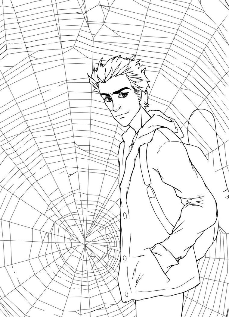 Peter Parker Coloring Pages Collection Coloring Pages Stained Glass Quilt Foundation Paper Piecing