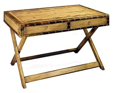 Bureau bois de hêtre massif naturel et rouille l bo wood