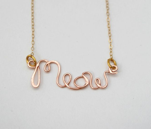 Meow Necklace by Make Pie Not War  | Uncovet