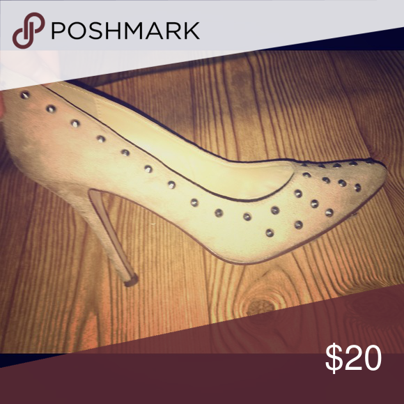 Studded heels Cream color studded heels. Pretty heels. Worn a handful of times. Shoes Heels
