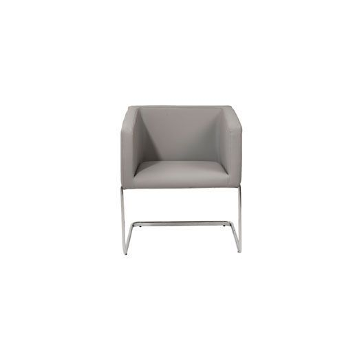 Ari Gray Leatherette Lounge Chair