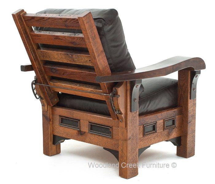 Rustic Lounge Chair Wood Ideas Furniture Rustic