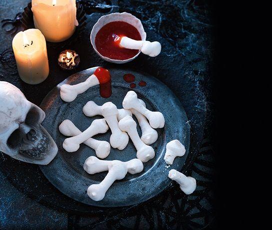 Meringue bones and blood dip Recipe Dips, Blood and Recipes - asda halloween decorations