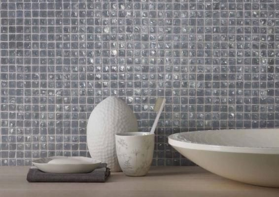 Piastrelle per bagno in mosaico di vetro prezzo basso piastrelle