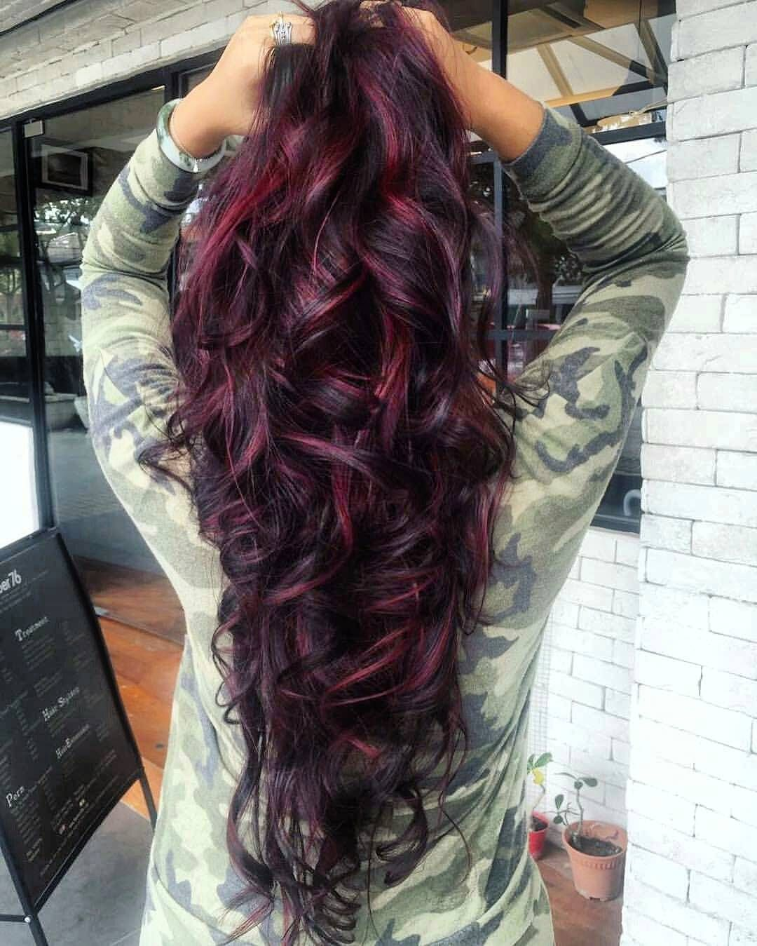 Cool fascinating ideas for burgundy ombre hair u appetizing