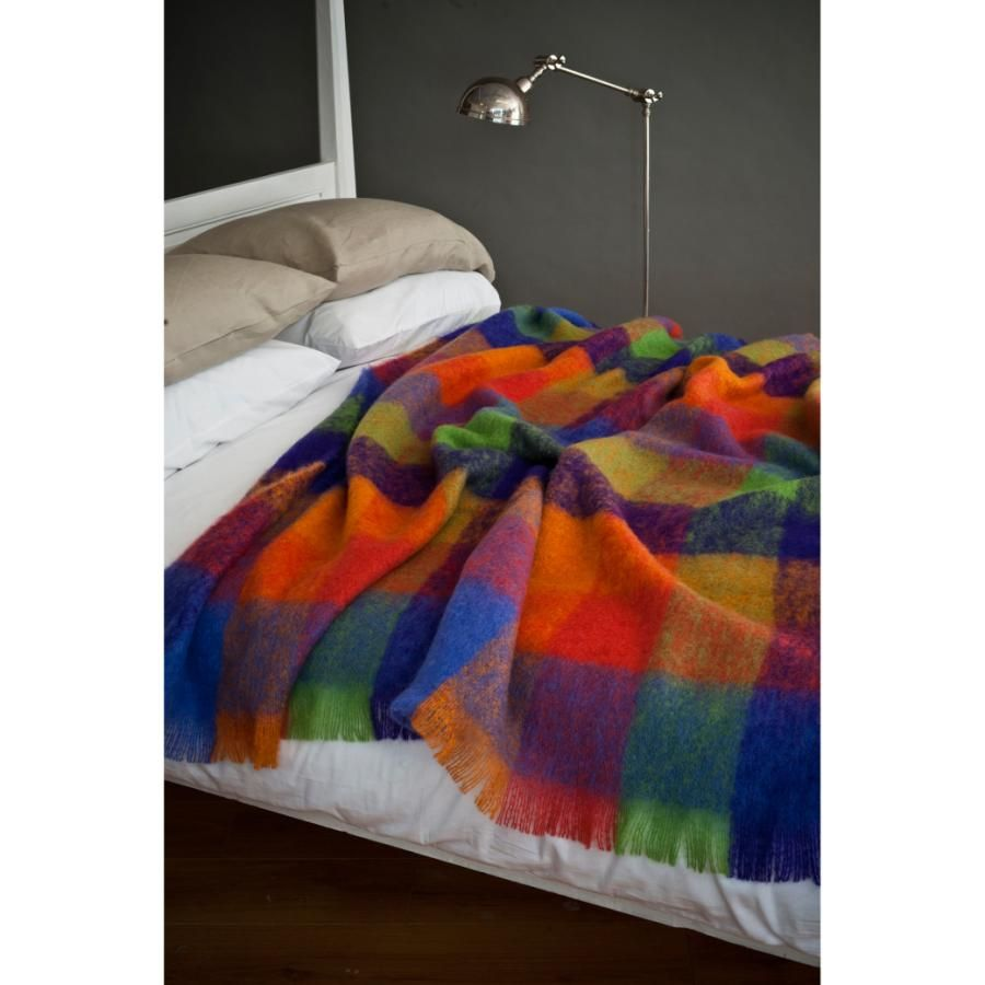 primaries mohair throw by avoca