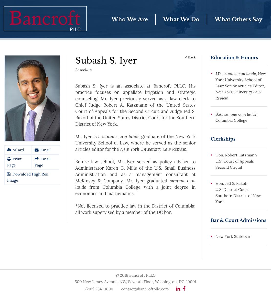 Lawyer Bios Paperstreet Bancroft Education York University
