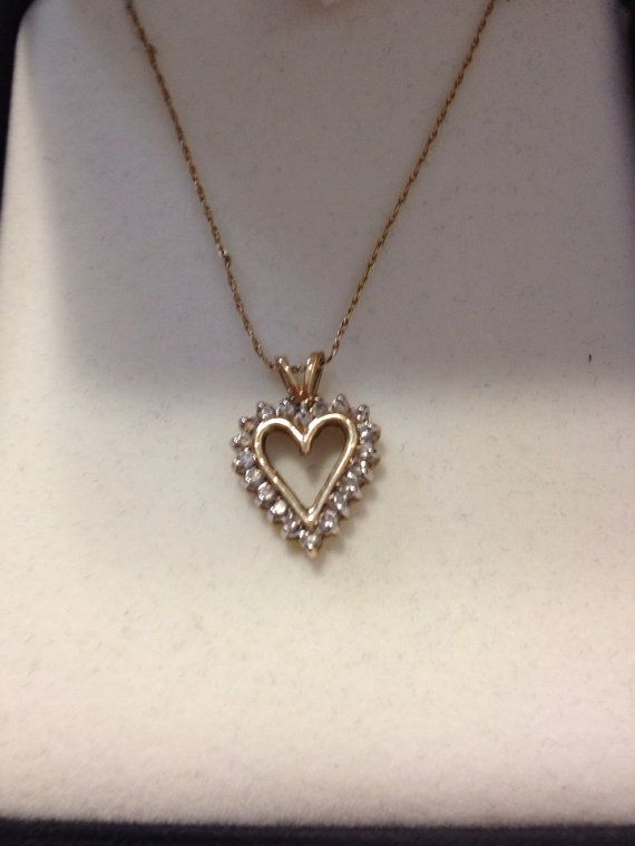 c4131f8f2 10K Diamond Heart Necklace Kay Jewelry NIB New by BargainBitz, $125.00