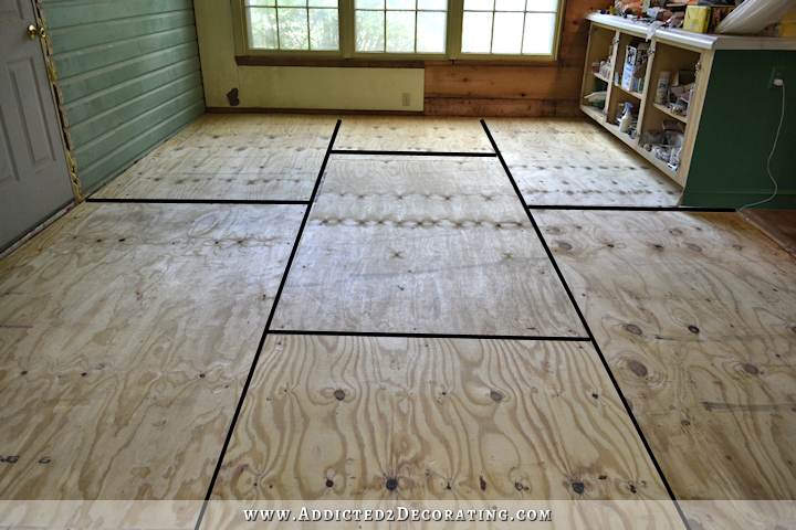 Plywood Subfloor Installed Over