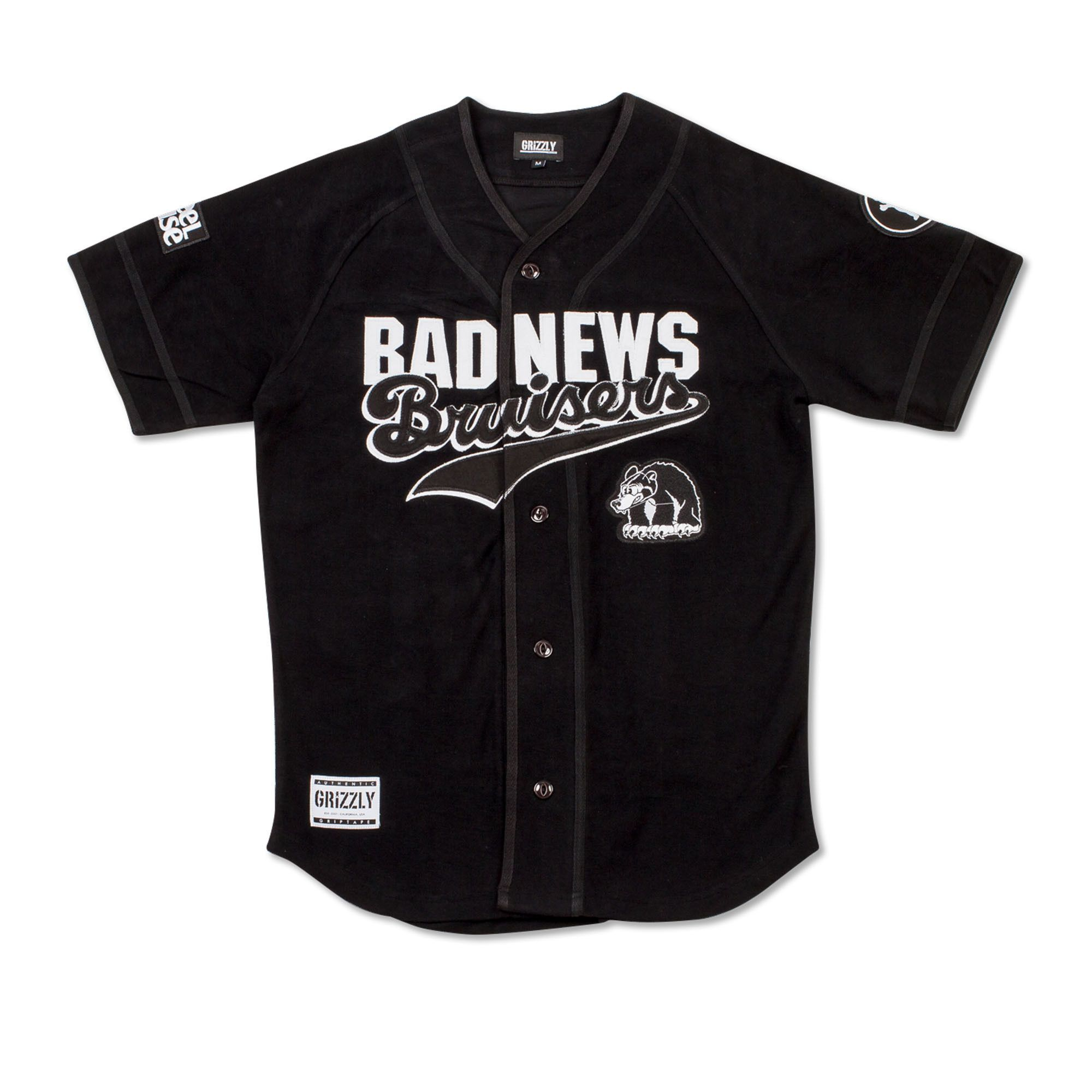 Bad News Bruisers Stacked Jersey in Black