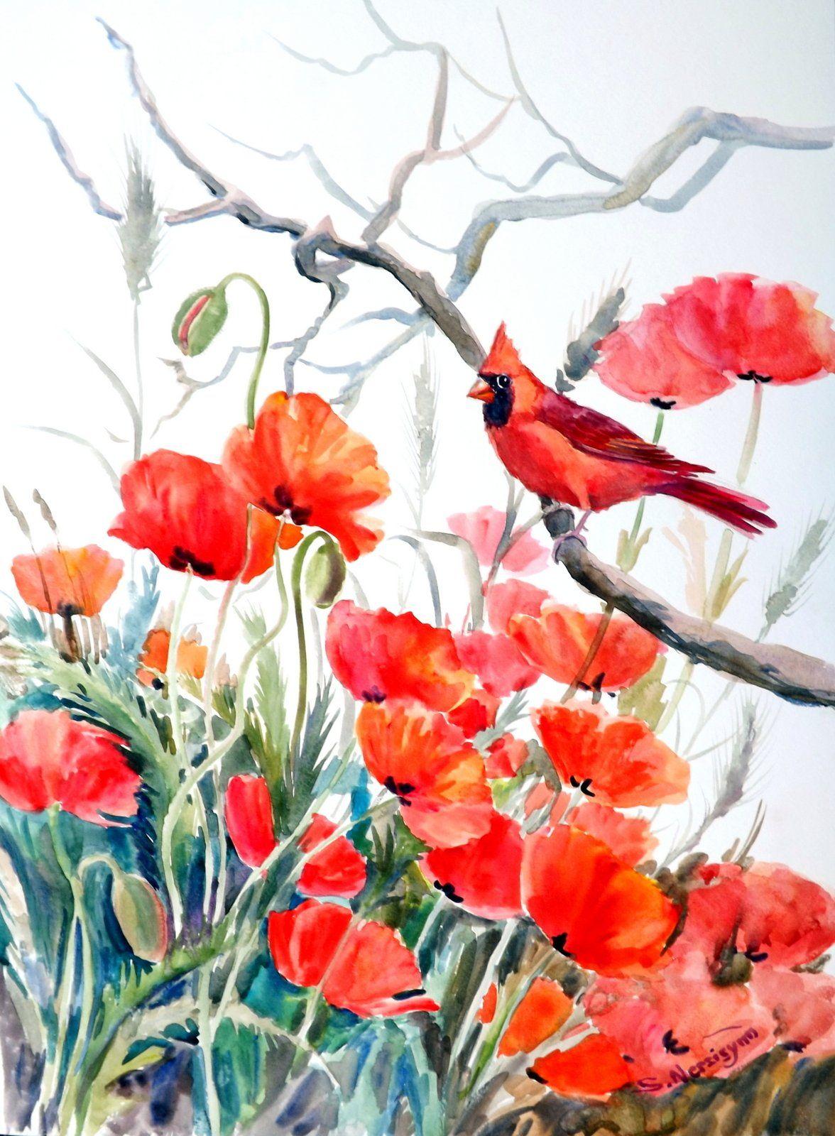 Art single but not alone watercolor suren