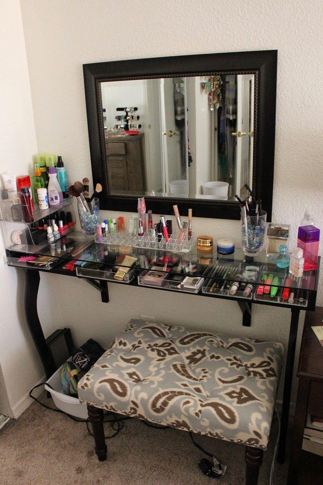 Makeup Vanity (con imágenes) Decoración de tocador