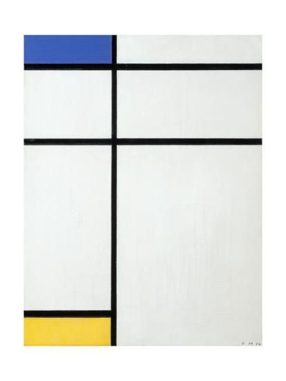 Composition Blue, Yellow and White, 1936By Piet Mondrian is part of Yellow Home Accessories Blue And White -