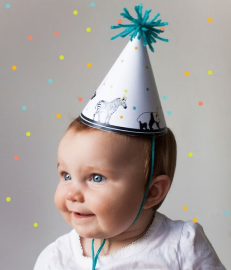 DIY Party Hats For Babys 1st Birthday
