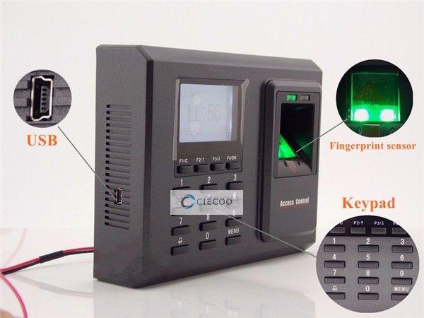 ZK TCP/IP fingerprint access control with keypad, ZK fingerprint