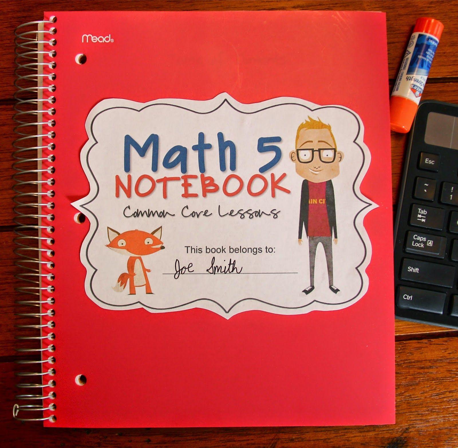 Ccss Math 5 Notebook Cover