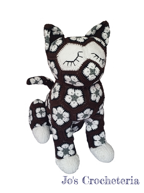 Luna the African Flower Cat pattern by JOs Crocheteria | gatos ...