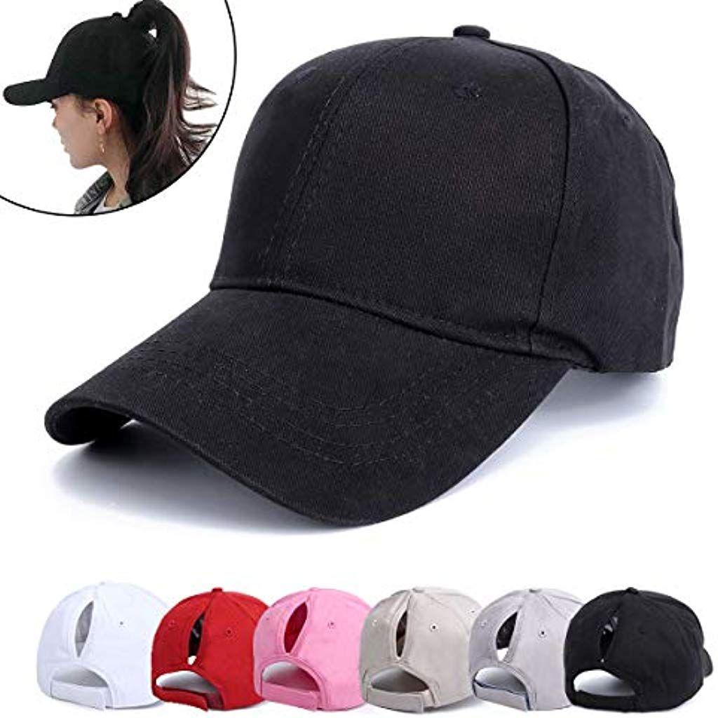 Neu Damen Pferdeschwanz Mesh Baseball Cap Sommer Basecap Snapback Ponytail Cap
