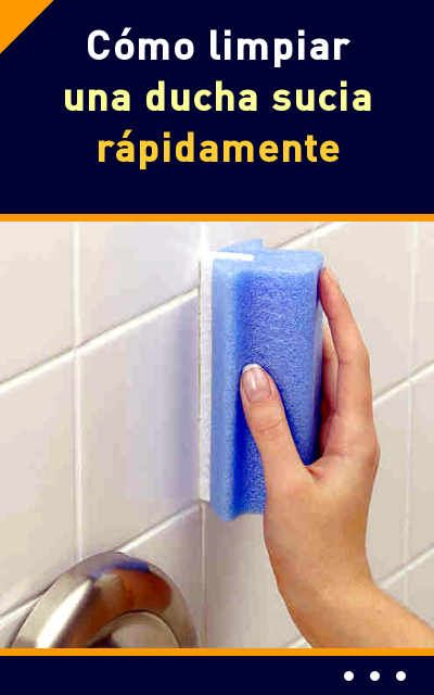 C mo limpiar una ducha sucia r pidamente duchas - Como limpiar alfombras muy sucias ...