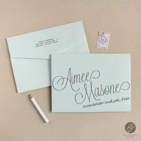 Printable Wedding Envelope Template INSTANT DOWNLOAD Script - Wedding invitation envelope address template