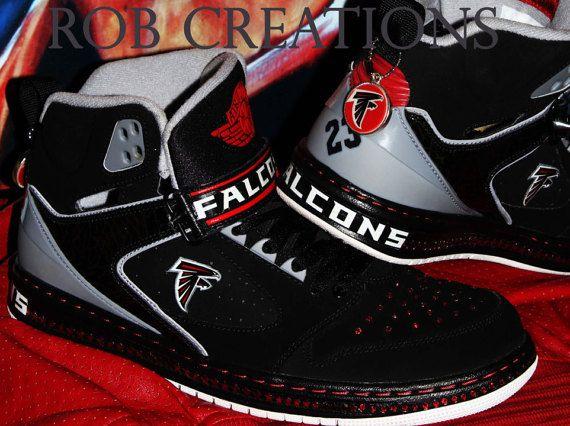 Jordan custom black Atlanta Falcons by ROBcreations on Etsy | Shoes