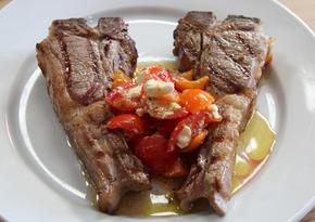 Hugh's lamb, tomatoes and feta