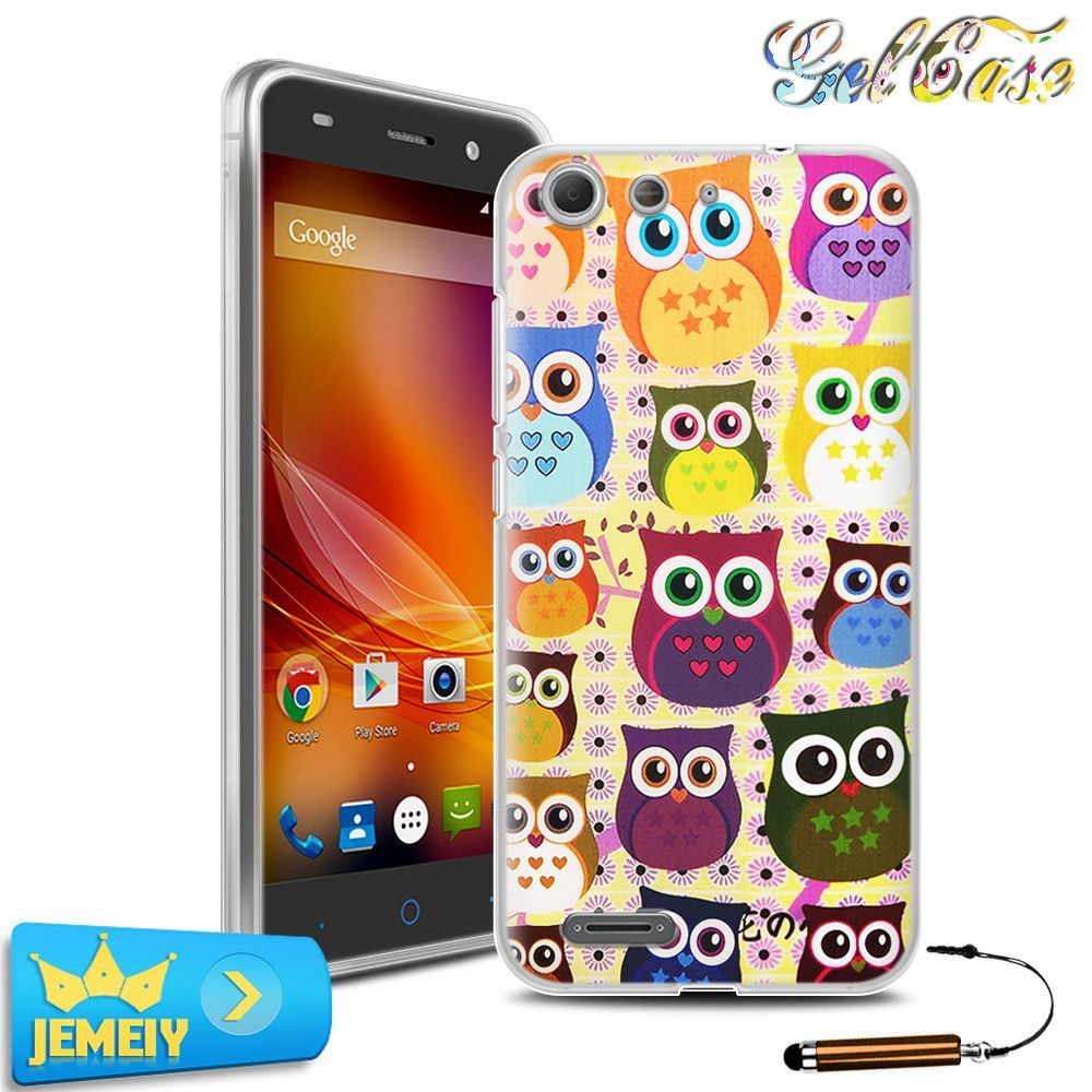 New arrived! For ZTE Blade X7 Original UV Printed Cartoon TPU Gel Case bag cover skin case for ZTE blade X 7 with free shipping