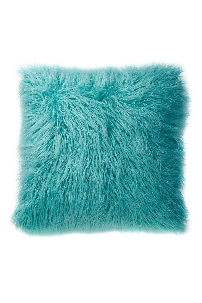 Flokati Faux Fur Throw Pillow Fur Throw Pillows Throw