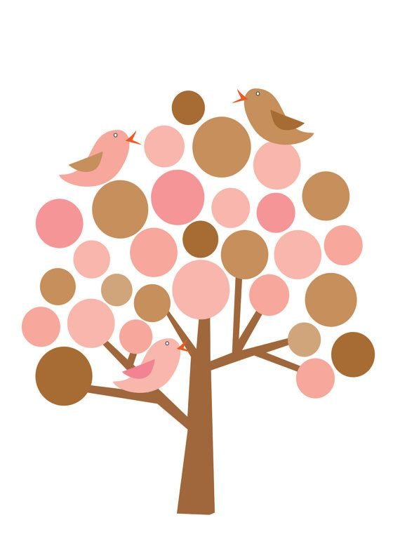 Tree And Birds Clip Art Clip Art Trees Clipart Art Tree Art